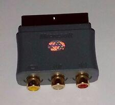 MICROSOFT XBOX 360 GREY SCART BLOCK BOX GENUINE IN VGWC + FREE UK POST