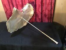 Vintage Antique Victorian Umbrella Parasol Elegant Carved Handle