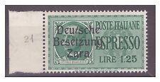 ZARA  1943  ESPRESSI -  LIRE 1,25  -  POS 21   NUOVO **