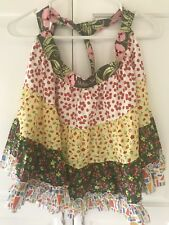 Matilda Jane Girls Apron Colorful Ruffles Flowers Size Unknown New Without Tags