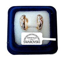 Orecchini da donna p. oro 18K zirconi cristalli swarovski veri SW8/4 bianchi