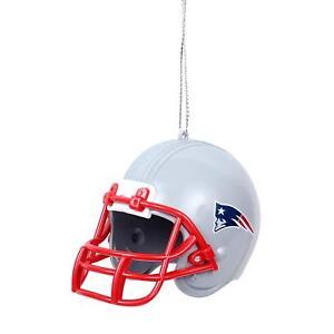 New England Patriots Plastic Helmet Christmas Team Ornament by FOCO
