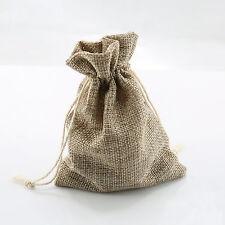 "10pcs 4"" x 6"" Linen Bag Drawstring Pouches DIY Gift Wedding Party Favor Bags"