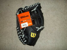 "NWT Wilson Elite 13"" WTA2449 Black Left Handed Thrower Leather Softball Glove"