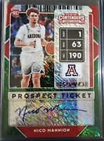 NICO MANNION 2020-21 CONTENDERS GREEN SHIMMER AUTO AUTOGRAPH ROOKIE SP RC RARE