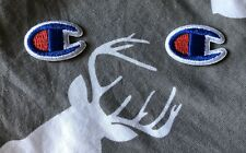 LOT of 2 EMBROIDERED IRON ON PATCHES INCREDIBLE DETAIL SPORTS LOGO PATCH