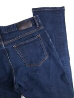 Hugo Boss Stretch Straight Leg Dark Wash Designer Jeans Mens 34x34 (33x31)