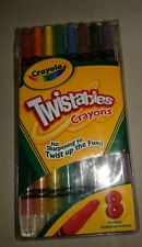 Crayola Twistables Crayons 8 / Pkg No Sharpening so Twist Up The Fun (non toxic)