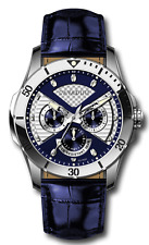 Luxury Men's Designer Watch from the Home Cavadini Full Calendar Azure Blue