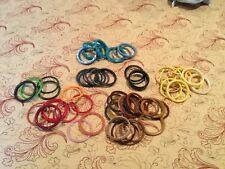Lot Of 61 vintage Bangle Bracelets Plastic Lucite Lots of colors