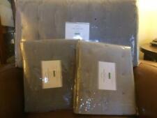 POTTERY BARN Velvet Tufted FULL/QUEEN Quilt & 2 EURO Shams NEW - Dark Smoke/Gray