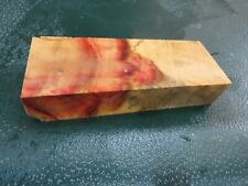 FF- FLAME BOX ELDER BURL  DELUXE KNIFE BLOCK/SCALES/ CALLS/ PEN BLANKS--F--47