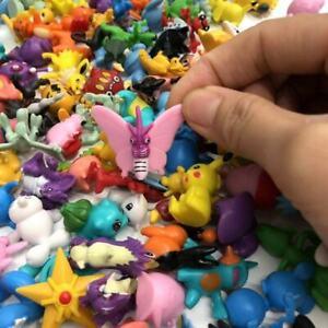 144 pcs Pokemon Mini PVC Action Figures Pikachu Toys Kids Gift party US