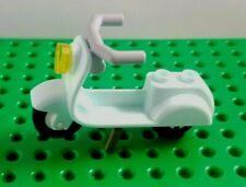 Lego SCOOTER Moped Motorcycle Long Handle Minifigure Vehicle Aqua VESPA