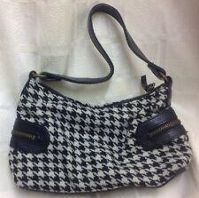Donna elegante borsetta di Herringbone con cinghia da polso