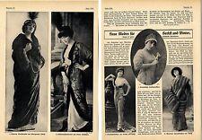 Herbst- und Winter Moden für die feine Dame Kaiserzeit Historische Mode von 1911