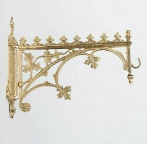 French Gothic Brass Hanging Church Sanctuary Lamp Wall Bracket #196(Chalice Co.)