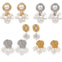 Fashion Women Earring Character Pearl Ear Stud Drop Dangle Earrings Jewelry