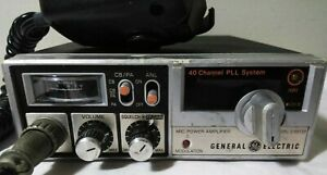 General Electric 40 CB Mobile Citizens Band AM Model 3-5813B PLL System WORKS!