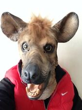 Hyena Animal Mask Wild Dog Overhead Latex Zoo Fancy Party Masquerade Movie