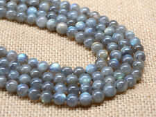 "8mm A grade natural labradorite round loose gemstone beads 16"" 90%+ w/flash"