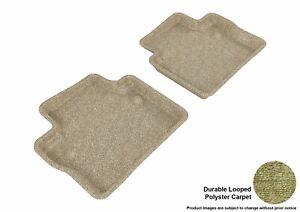 For 2007-2016 Volvo S80 Tan Carpet All Weather Floor Mat Set