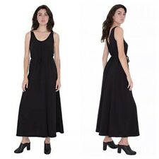 American Apparel Women's Crepe Tank Maxi Black Dress Sz M/L NEW!