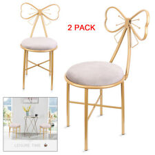 2 Pack Soft Velvet/Leather Dressing Table Chair Room Makeup Chairs Vanity Stools