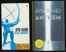 Ayn Rand Book Lot Atlas Shrugged 50th Anniversary Edition & Anthem