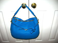 J.Crew New Whit Tag Biennial Hobo Blue Leather Bag Retail:$325+Tax