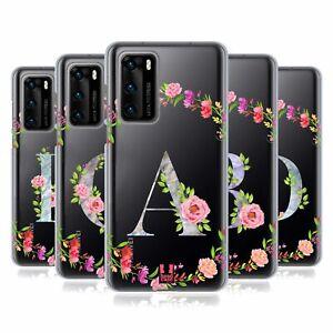 HEAD CASE DESIGNS DECORATIVE INITIALS GEL CASE & WALLPAPER FOR HUAWEI PHONES