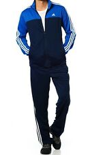 Men Adidas Navy Track Top Jacket Retro Full Tracksuit Sizes 40/42