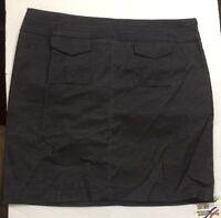 Women's OLD NAVY Size 4 Black Denim Stretch Low Waist Mini SKIRT