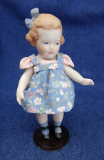 ALL-BISQUE jointed DOLL 1995 GERMANY toddler girl 5.5""