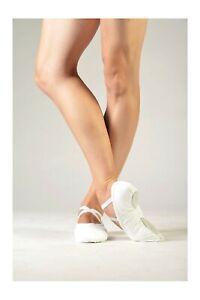 NWT Sansha Pro 1C White Canvas Split Sole Ballet Shoes Unisex Size 3W 173763