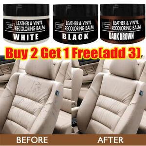 Leather Repair Filler Cream Kit Restore Car Seat Sofa Scratch Scuffs Hole Rip=UK