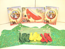 THE WIZARD of OZ BALLOON LOT DOROTHY LION TIN MAN SCARECROW BIG RED RUBY SLIPPER