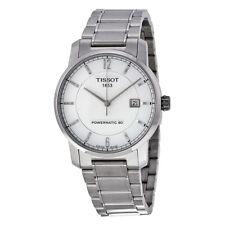 Tissot T-Classic Automatic Silver Dial Titanium Mens Watch T0874074403700