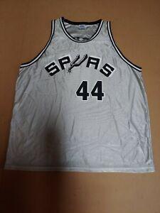 Spurs #44 George Gervin Grey Park Antony Pro Sport Jersey Men's XL - Pre-Owned