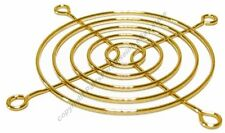 """Lot10 80mm/3""""inch/8cm Metal Wire Box/Case Fan Grill/Finger Guard/Protector{GOLD"""