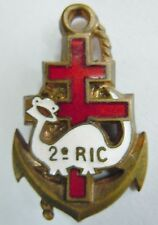 Insigne FRANCE LIBRE 2° RIC Belut 1° DFL Troupes Coloniales ORIGINAL Arthus B.