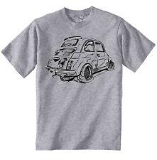 FIAT ABARTH 500 Ispirato-NUOVO Amazing Graphic T-Shirt Grigio S-M-L-XL - XXL