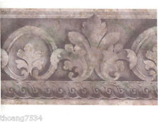 Traditional Architectural Purple Lavender Acanthus Leaf Scroll Wall paper Border
