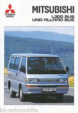 Mitsubishi L 300 Bus Allrad Prospekt 2/95 1995 Autoprospekt Broschüre brochure