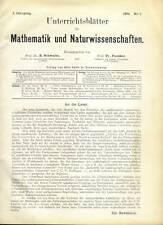 Unterrichtsblätter f.Mathematik u.Naturwiss. 1895/99