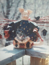 "10"" Cat Doll Here Birdie, Birdie uses birdhouses  craft pattern primitive decor"