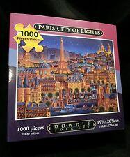 PARIS CITY OF LIGHTS NEW BOXED DOWDLE FOLK COLLECTOR JIGSAW PUZZLE 1000PCS 16X20