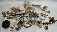 Vintage Junk Drawer Mens Cufflinks and Womens Jewelry Group Lot