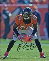 """Champ Bailey Denver Broncos Autographed 8"""" x 10"""" Stance Photograph"""