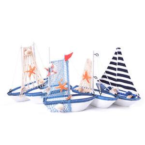 Nautical Figurine Wooden Ship Ornaments Sailing Boat Model Vessel Crafts